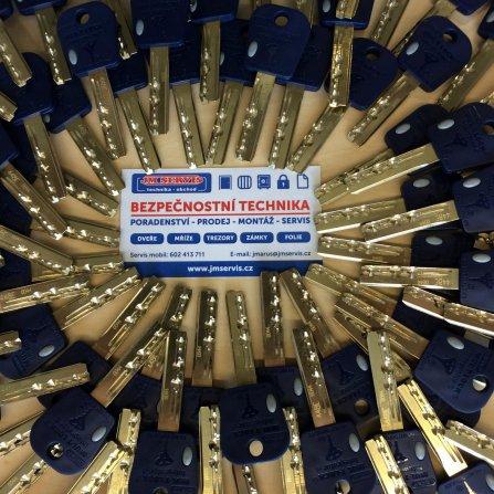 Výroba klíčů - bezpečnostní a chráněné klíče MUL-T-LOCK