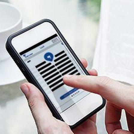Ovládání zámku ENTR pomocí smartphone