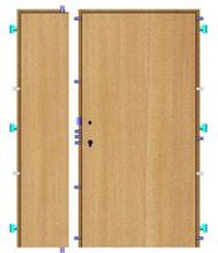 Bezpečnostní dveře BEDEX Vario V3 dvoukřídlové